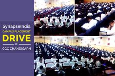 """An exclusive campus recruitment Drive by """"SynapseIndia"""" was conducted at CGC (Chandigarh Group of Colleges), Chandigarh on 15th October 2016. Hundreds of students appeared to the recruitment drive. The CGC (Chandigarh Group of Colleges) maintains a big campus with modern infrastructure and facilities. The excellent placement record of the college makes it one of the top choices for students to pursue graduation & post graduation."""