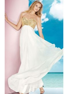 Sweetheart A-line Floor-length Chiffon Prom Dress Ivory With Sleeveless