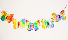 hello, Wonderful - RAINBOW MARBLED BUTTERFLY PASTA ART