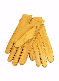 Dents unlined peccary gloves. Yummy