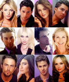 From Left to Right: Serena, Dan, Blair, Chuck, Nate, Jenny, Rufus, Lily, Jack, Vanessa, Erik and Ivy