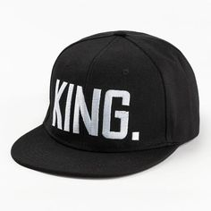 7ff8da4edf159 King Snapback Hat - Embossed with a prominent
