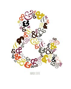 ampersand love...when I worked in the lettering dept at AG, we were NOT ALLOWED to use ampersands. The most beautiful of all punctuation marks.