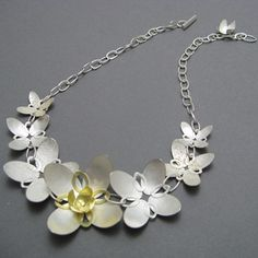 Butterflower chain necklace by Donna Barry