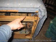 Taking Apart A Lazyboy Recliner SEAT BOTTOM set screws