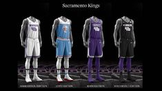 Sacramento Kings uniform set, 2017-18