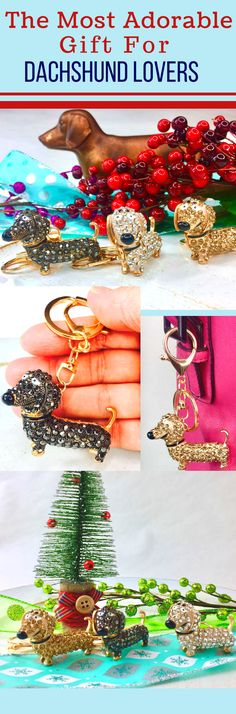 The Doxie Lovers Key Chain is lovingly crafted and covered in glamorous crystals. Can also be used as a sparkling purse or bag charm. Choose white, gold, or black crystals. Take a look at:   https://www.dogandcatparty.com/doxie-lovers-keychain