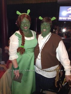Great Couple Costume Idea: Shrek and Fiona... This website is the Pinterest of costumes
