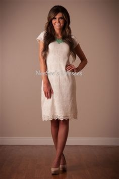 Ivory All Lace Dress | Trendy Modest Women's Boutique | Modest Clothing and Dresses for Women