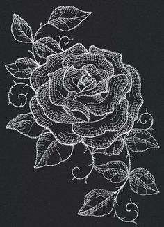 Chalked Rose | Urban Threads: Unique and Awesome Embroidery Designs
