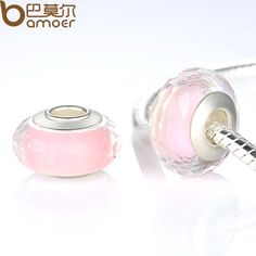 Elegant Silver Plated Fascinating Pink Murano Glass Beads Fit Bracelet & Necklace Jewelry Making PA6333 $3.89   => Save up to 60% and Free Shipping => Order Now! #fashion #woman #shop #diy  http://www.rodjewelry.com/product/elegant-silver-plated-fascinating-pink-murano-glass-beads-fit-bracelet-necklace-jewelry-making-pa6333/