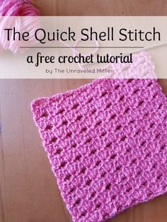 The Quick Shell Stitch pattern creates a lacy eyelet fabric by working alternating rows of 3 double crochets shells and chain stitches.