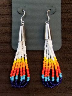 Native American beaded Earrings by TiospayeDesigns on Etsy, $18.00