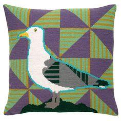 Sølvmåge - Strik og broderi - garn, kits og designs i Sommerfuglen Hobbies And Crafts, Cross Stitch Embroidery, Needlepoint, Kids Rugs, Quilts, Blanket, Pillows, Animals, Design