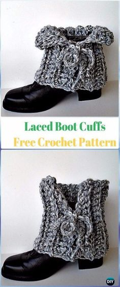 Crochet Laced Boot Cuffs Free Pattern - Crochet Boot Cuffs Free Patterns