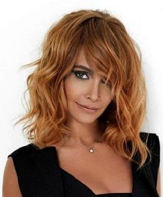 The Chic Wavy Layered Hairstyles: Light Brown Wavy Layered Hairstyles With Side Bangs For Shoulder Length Hair – CarQuack