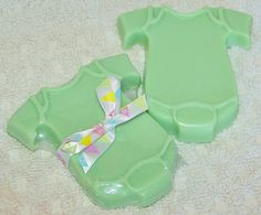 Green Baby Onesie Soap - perfect for baby showers, favors, birth announcement