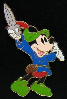 Mickey Mouse as Brave Little Tailor pin (Star Mickey pin set) from Fantasies Come True