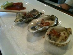 Oysters with bacon.