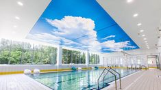 piscina cubierta 3 Outdoor Decor, Home Decor, Covered Pool, Ceilings, Decoration Home, Room Decor, Home Interior Design, Home Decoration, Interior Design