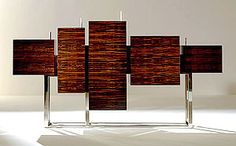 CUS MACASSAR EBONY BUFFET BY TAYLOR LLORENTE | This art work can also be created in other rare woods such as zebrano, pau ferro and olive woods | Wooden Buffet | Modern Buffet | Dining room buffet | mid-century modern buffet | http://buffetsandcabinets.com
