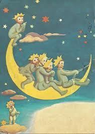 Projek Satu Dunia (One World Project)™: Martta Wendelin Sun Moon Stars, Sun And Stars, Look At The Moon, Moon Images, Paper Moon, Good Night Moon, Vintage Children's Books, Moon Art, Moon Child
