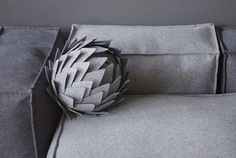 Unique Decor for sofa / Artichoke / Modern Throw by WoollyClouds