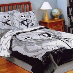 The Nightmare Before Christmas Full / Queen Comforter Set Bedding with 2 Pillowcases - Jack Skellington Nightmare Before Christmas Blanket, Nightmare Before Christmas Decorations, Christmas Ideas, Christmas Christmas, Halloween Decorations, Jack Skellington, Queen Comforter Sets, Bedding Sets, Jack The Pumpkin King