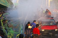 Thingyan (Myanmar/Burma). 'Myanmar in April is so hot that you'll enjoy getting soaked at Thingyan (Water Festival), which marks the start of the country's new-year celebration. The festival involves lots of drinking, dancing, singing and theatre. Cultural taboos are temporarily lifted, so women can 'kidnap' young men, blacken the men's faces with soot or oil, and dunk their heads in buckets of water until they perform a hilarious monkey dance.' http://www.lonelyplanet.com/myanmar-burma