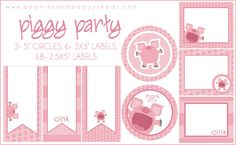 Peonies and Poppyseeds: Piggy Party Printables: Labels