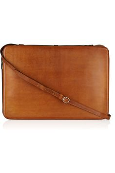I want to get this!  Need to find a better sale! Maison Martin Margiela | Shearling-lined leather laptop case | NET-A-PORTER.COM
