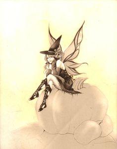 Haloween fairy -sketch- by jurithedreamer on deviantART
