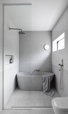 Bathroom a few ideas, bathroom remodel, master bathroom decor and bathroom organization! Bathrooms may be breathtaking too! From claw-foot tubs to shiny fixtures, they are the master bathroom that inspire me probably the most. Concrete Bathtub, Concrete Basin, Bad Inspiration, Bathroom Inspiration, Modern Bathroom Design, Bathroom Interior Design, Minimalist Bathroom Design, Modern Interior, Interior Decorating