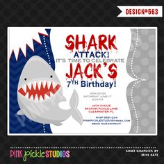 shark birthday swimming pool party invitations pool birthday party