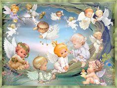 Cute Baby Angel in Heaven | Angelitos