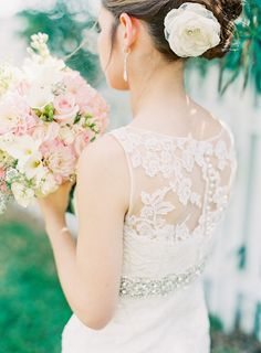 Romantic Wedding in Historic St. Augustine | #WeddingDress | See the wedding on SMP: http://www.StyleMePretty.com/florida-weddings/st-augustine/2014/02/06/romantic-wedding-in-historic-st-augustine/