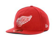 e84154a0b9626c Detroit Red Wings NHL Basic 59FIFTY Cap Hats Wings Store, Nba Hats,  Baseball Hats