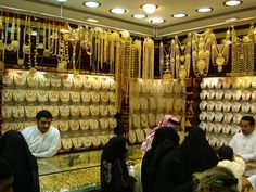 """#Gold_Souk: - It is most famous gold market Dubai and thus the city is called as the """"Land of Gold""""."""