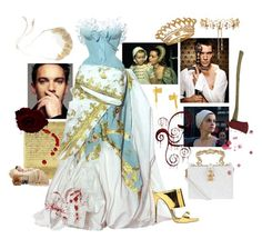 """""""Shakespeare- Anne Boleyn. THE one and only Queen Mum"""" by juliabachmann ❤ liked on Polyvore featuring Dolce&Gabbana, momocreatura, Giuseppe Zanotti, Valentino and Erickson Beamon"""