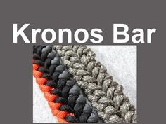 "How to make a Kronos Bar Paracord Bracelet (3/8"" buckle)"