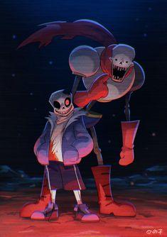 Horror Sans e Papyrus Horror Undertale Comic Funny, Anime Undertale, Undertale Drawings, Frisk, Horror Sans, Sans Art, Cool Illusions, Sans And Papyrus, La Face