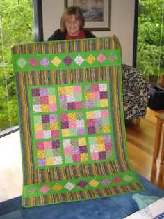 I love patchwork but I am as slow as the proverbial snail and my sewing is as crooked as the trail the snail leaves. I was stunned when our great friend Glenda made 2 Sudoku quilts for the girls. Simply amazing - a gift of friendship that required an enormous effort, lots of time and considerable expense. THANKYOU!.