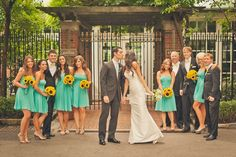 little bit of a lighter turquoise but am obsessed with the sunflowers! and the grooms tux