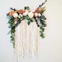 Wall Hanging Floral Wall Hanging Flower Wall Art Large Wall