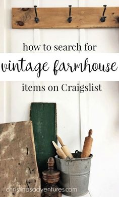 GREAT resource to find vintage farmhouse treasures on Craigslist. This post shares exactly what words to use - and which words to avoid - to find the best deals.