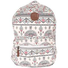 Billabong Women's Hand Over Love Backpack (€12) ❤ liked on Polyvore featuring bags, backpacks, print backpacks, print bags, knapsack bags, cotton backpack and rucksack bag
