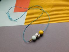 Simple Hand Painted Wooden Bead Necklace