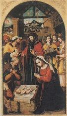 Adoración de los pastores, de Vicente Macip. Siglo XVI. Museo de Valladolid