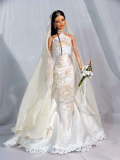 Induja Barbie Bridal, Barbie Wedding Dress, Wedding Doll, Barbie Gowns, Barbie Dress, Wedding Dresses, Barbie E Ken, Barbie Princess, Barbie Doll