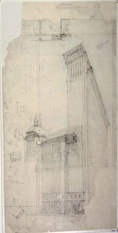 "Exhibition: 'Frank Lloyd Wright and the City: Density vs. Dispersal' at The Museum of Modern Art (MoMA), New York http://wp.me/pn2J2-5vt Dr Marcus Bunyan. ""Some exquisite drawings"" Art work: Frank Lloyd Wright (American, 1867-1959) 'The San Francisco Call Building Project' 1913"